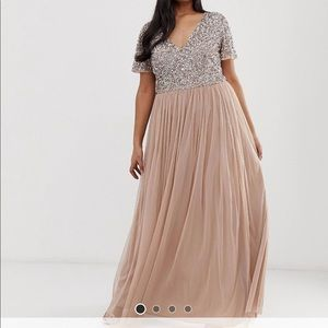 Asos sequin dress wore once size 14w